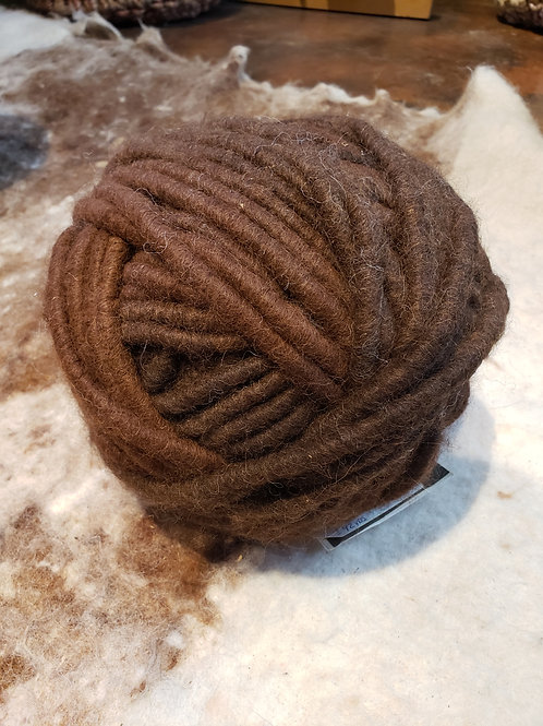 Alpaca Rug Yarn- Dark Brown Natural