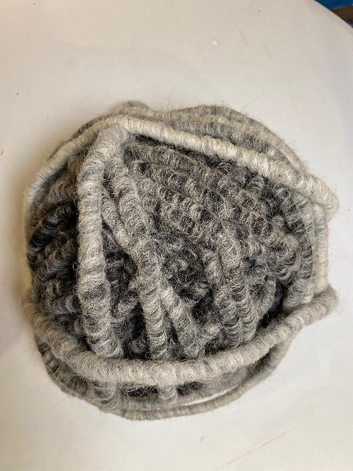 Alpaca Rug Yarn with Wool Overlay - Black/White
