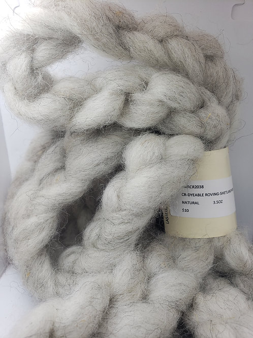 Dyeable Roving- Shetland Wool- Natural