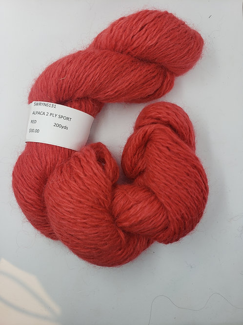 Alpaca 2-Ply Sport- Red