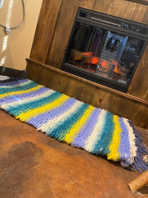 Superwash Wool Hand-Woven Rug
