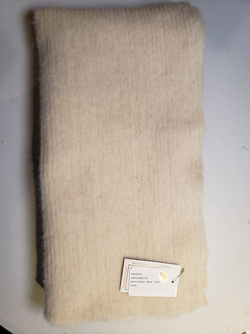 "Alpaca Fabric Felt - White(course) - 38""X38"""