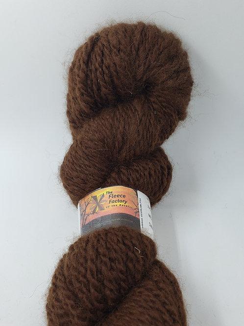 Alpaca 2-Ply Sport Yarn - Med Brown