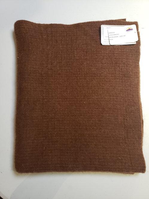 "Alpaca Fabric Felt - Natural Brown - 30""X25"""