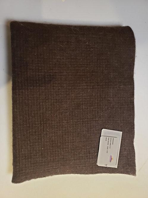 "Alpaca Fabric Felt - Dark Brown - 36""X29"""
