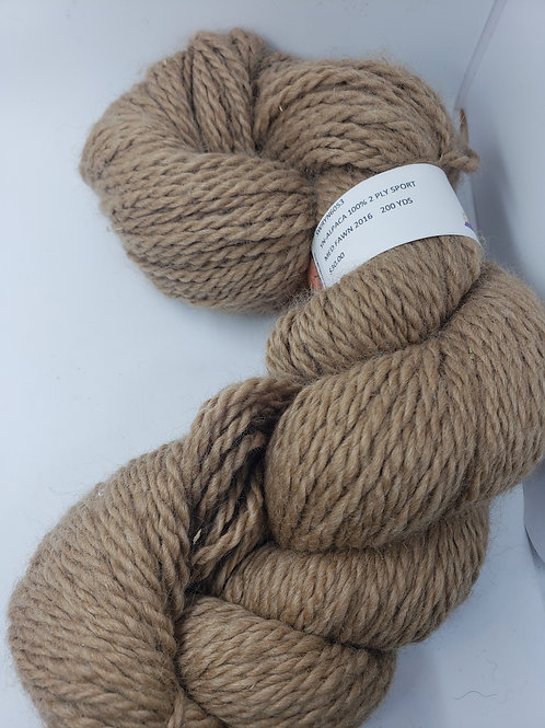 100% Alpaca 2-ply Sport - Medium Fawn