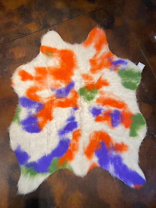 Alpaca Felted Cow Hide Rug
