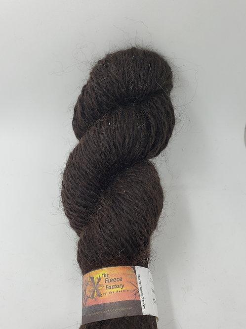 Alpaca 2-Ply Fingerling Yarn - True Black