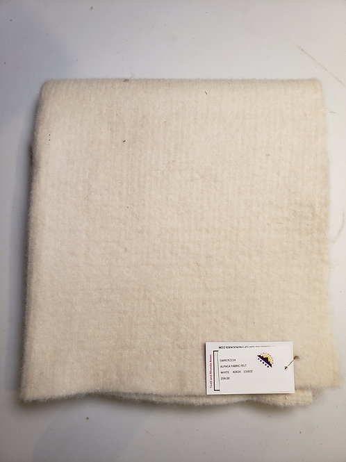 "Alpaca Fabric Felt - White - 40""X24"""