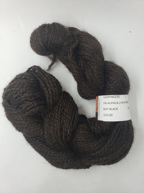 Alpaca 2-Ply Sport- Bay Black