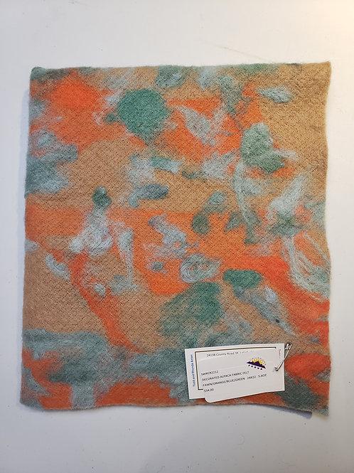 Decorated Alpaca Felt Sheet