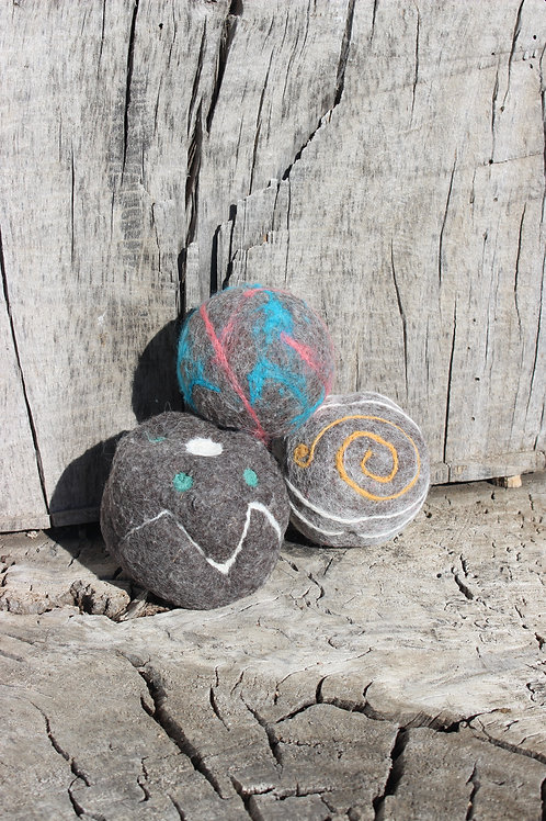 Decorated Dryer Balls (Set of 3)