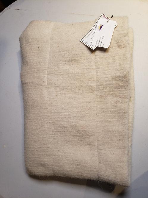"Alpaca Fabric Felt - White- 48""X41"""