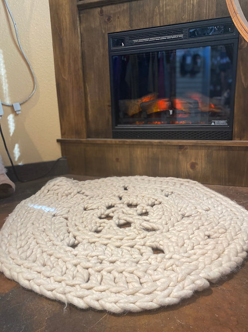 Alpaca Hand-Crochet Rug
