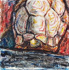 turtle painting acrylic wax