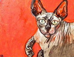 sphinx cat painting acrylic