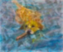 golden retriever painting acrylic texture canvas