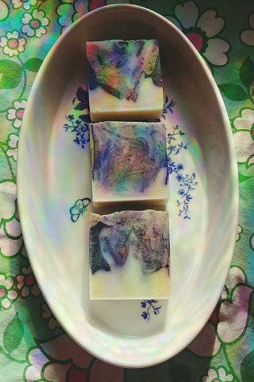 Tea Tree, Charcoal + Clay Swirl Soap Bars