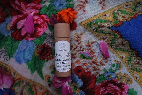 Calendula + Shea Butter Beeswax Lip Balm - Nourishing & Protecting