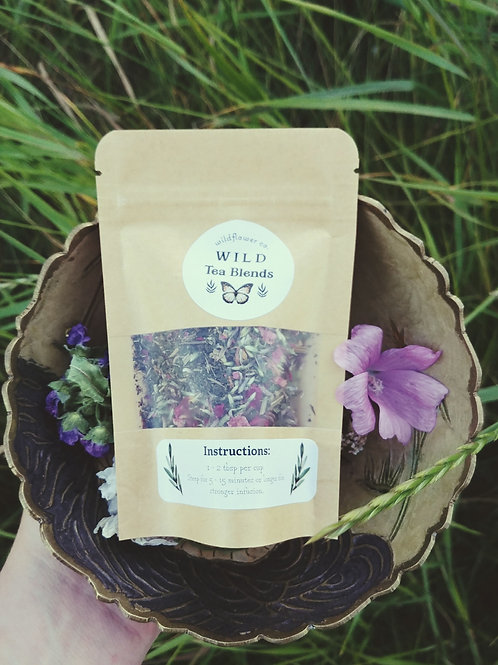 """Divine Radiance"" - Wild Tea Blend - Red Clover, Wild Rose, Nettles.."
