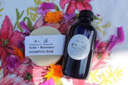 Herbal Hair Care Duo - Shampoo Bar & Hair Rinse
