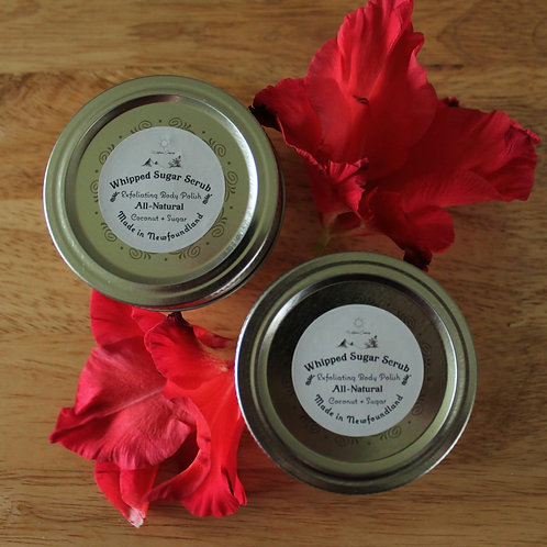 Sweet Orange and Coconut Body Polish - Body Scrub - 125 ML Glass Jar