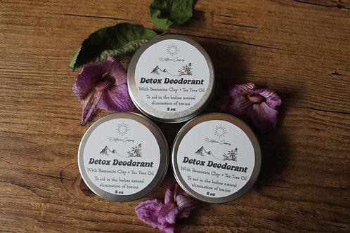 Detox Deodorant - With Bentonite Clay + Tea Tree Oil - 50 ml
