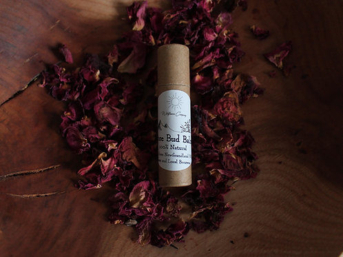 Rose Bud Balm - Nourishing + Protective - Wild Rose Infused Beeswax Lip Balm