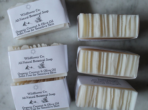 Pure Coconut and Olive Oil - All-Natural Cold Process Soap