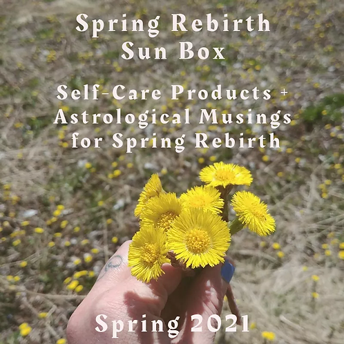 Spring Sun Box - Seasonal Self-care products and Astrology insights for Spring