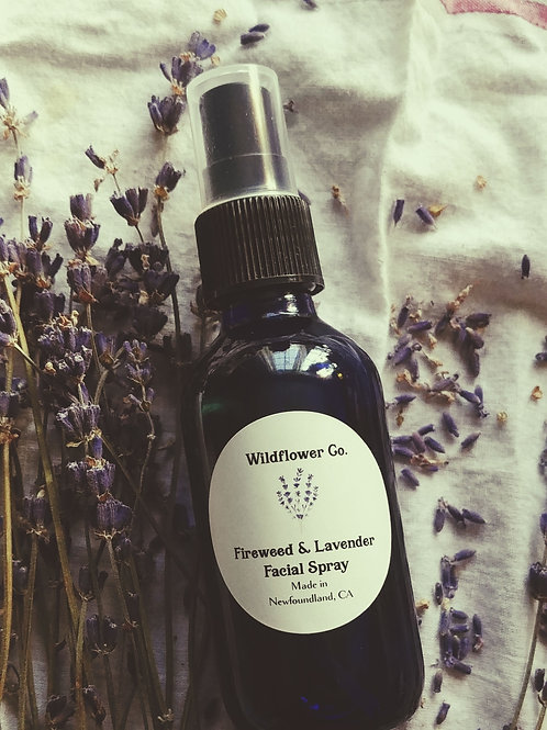 Fireweed & Lavender Facial Spray with Witch Hazel - Hydrating Toner Mist