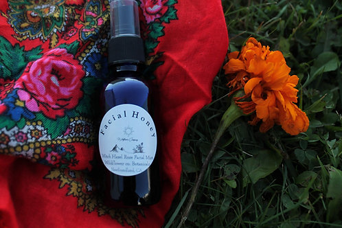 Facial Honey - Witch Hazel Rose + Hibiscus Facial Spray - 2 oz Glass Bottle