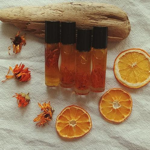 """Sunshine on a Cloudy Day"" - Calendula + Sweet Orange Aromatherapy Roll-on"