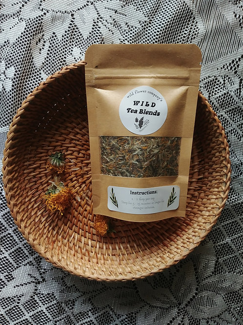 "Wild Tea Blend - ""Digest & Nourish"" Nettles, Dandelion, Cleavers, Burdock Root"