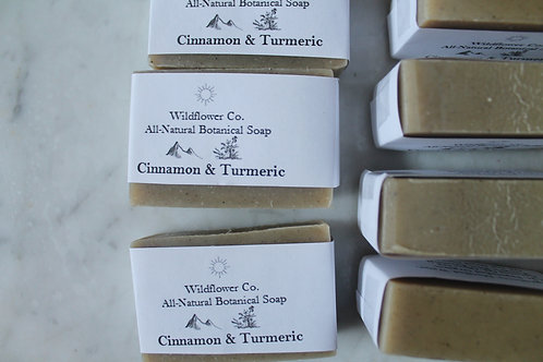Cinnamon and Turmeric - All-Natural Cold Process Soap