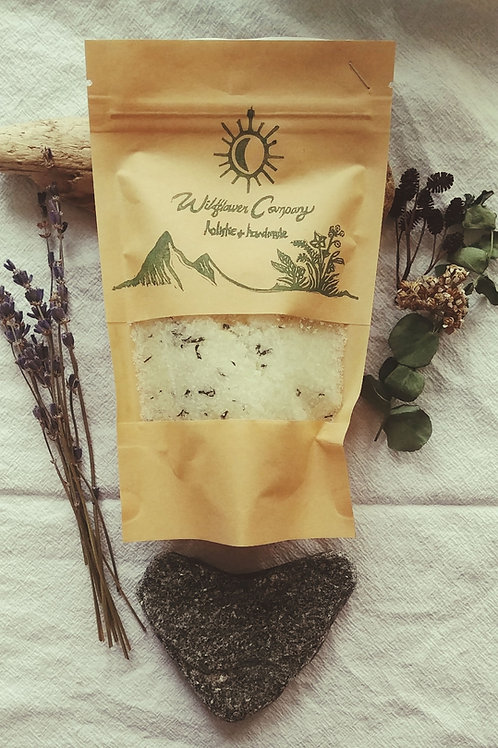 """Breathe Easy"" - Eucalyptus + Mint Bath Soak - 10 oz Pouch"