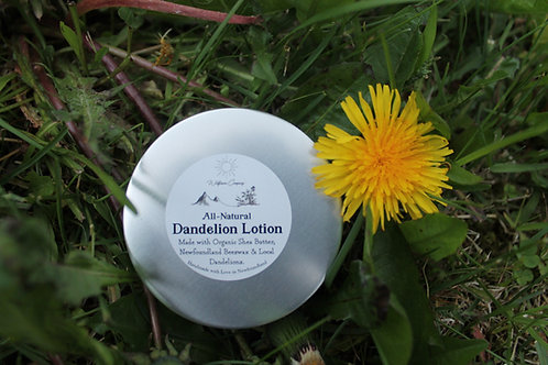 Dandelion Lotion - For Dry, Chapped and Sensitive Skin - 3.5 oz