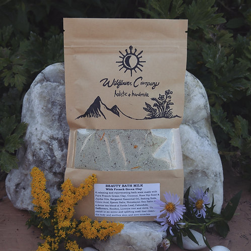 Beauty Bath Milk ~ With French Green Clay - Botanical Bath Soak