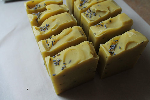 """Purple Sunshine"" - Dandelion + Lavender infused Soap"