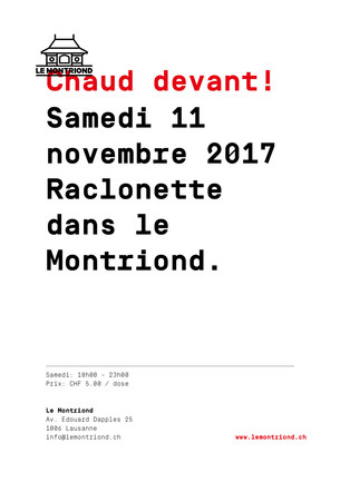 samedi 11 novembre 2017 -                    Raclonette dans le Montriond
