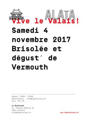 samedi 4 novembre 2017 -                    Brisolée et dégust' de Vermouth