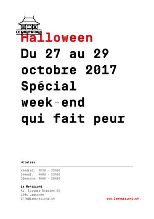 du 27 au 29 octobre 2017 -                       Spécial week-end qui fait peur