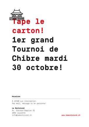 Viens participer au 1er Grand Tournoi de Chibre du Montriond !!! Les places sont limitées alors insc
