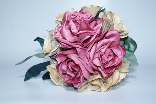 Handmade Wedding Bouquet - Peonies and Paper