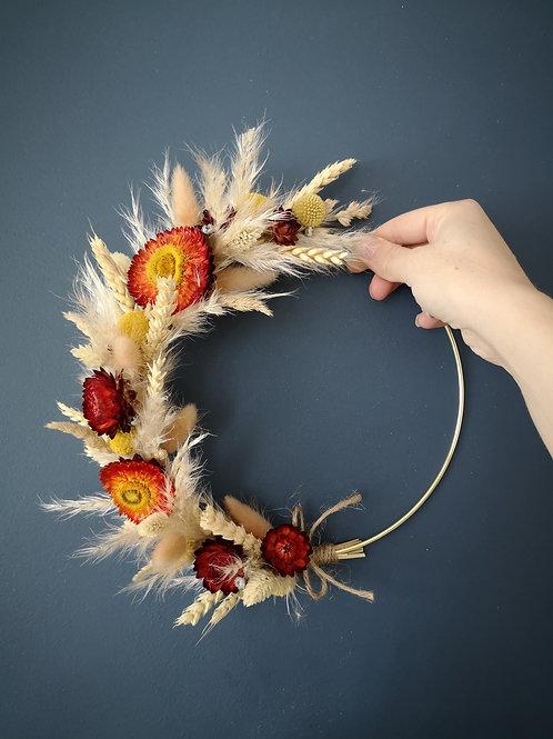 Dried flower wreath II