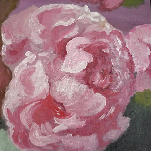 Peony Original Oil Painting