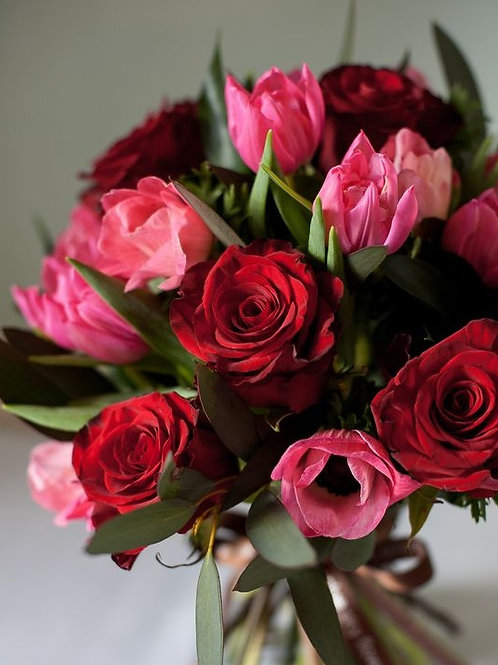 Red Roses and Tulips