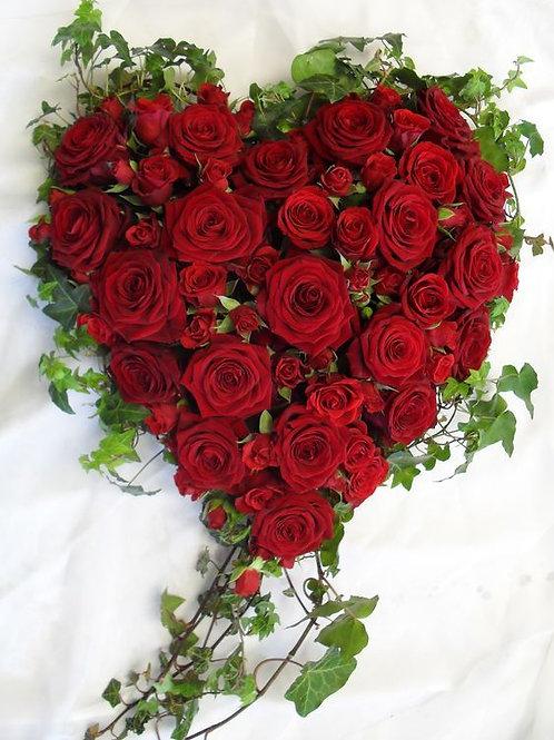 Love Heart Pillow -Red
