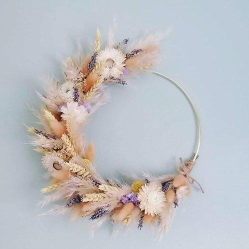 Dried flower wreath III