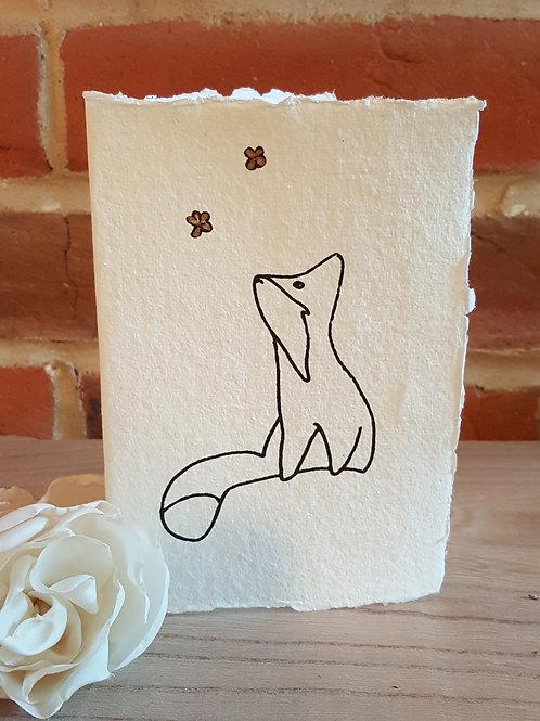 Stargazing Fox Card